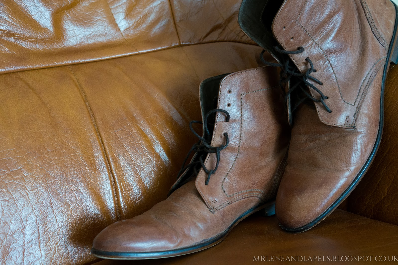 Hudson Shoes leather boots