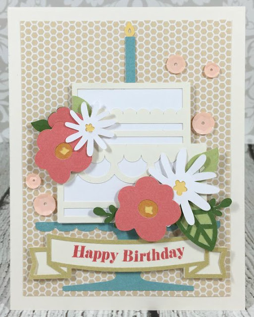 Cricut Artistry Birthday Cake card