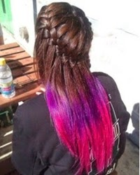 Pink Hair Dye On Dark Hair, Brown Hair Idea, Tips Images