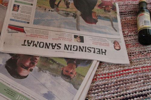 taimipotteja sanomalehdestä