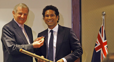 Sachin Tendulkar receives Order of Australia