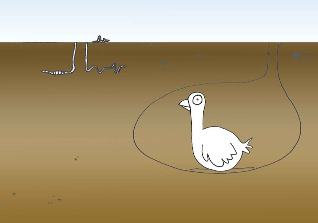 disegno di oca nell'habitat immaginario
