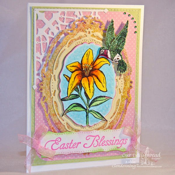 ODBD dies: Hummingbird, Decorative Corners. Blooming Garden Paper Collection