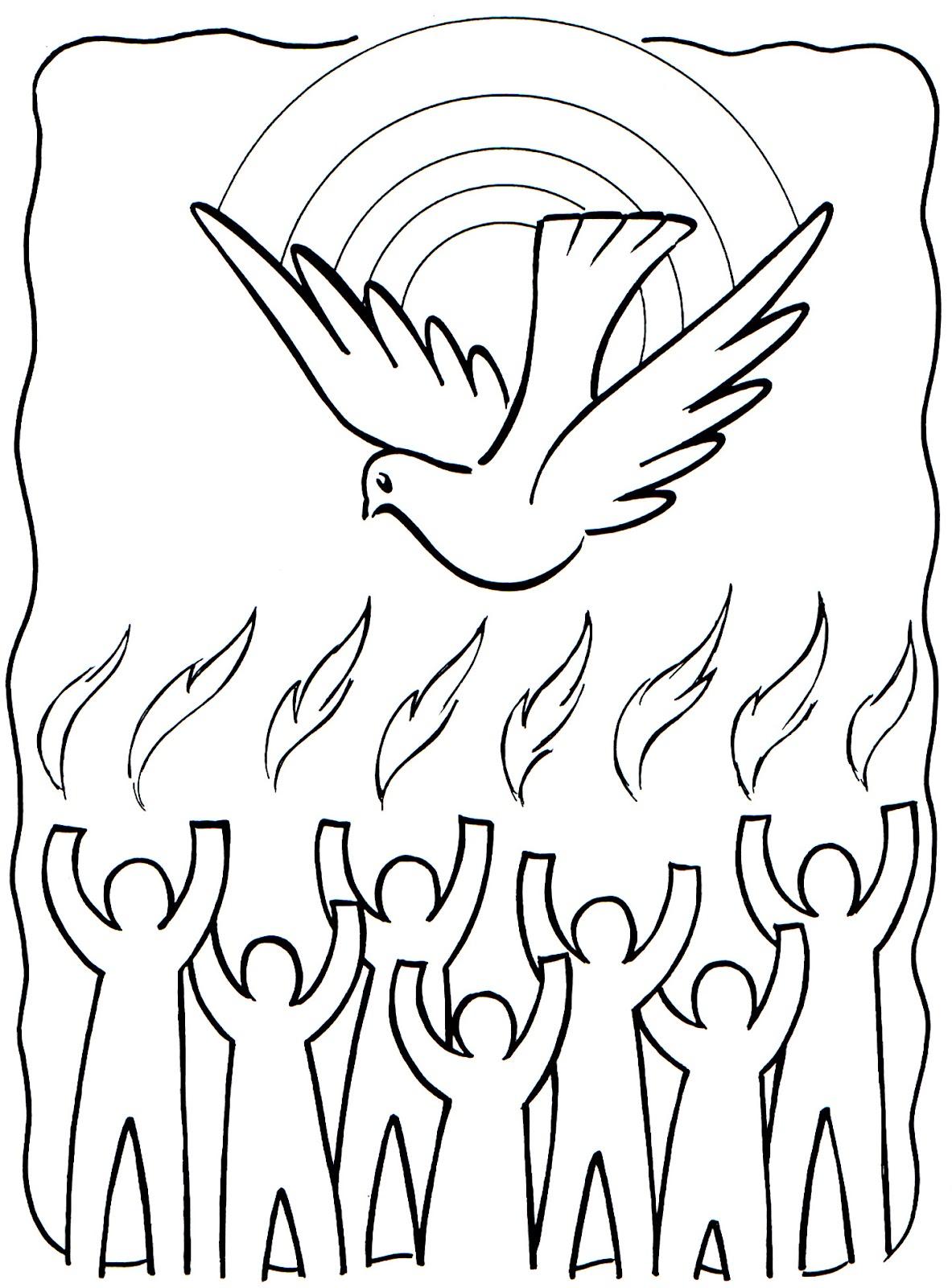El Pentecostes para Colorear