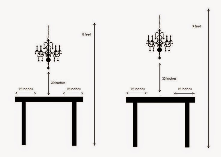 Beautiful Dining Room Chandelier Height Contemporary