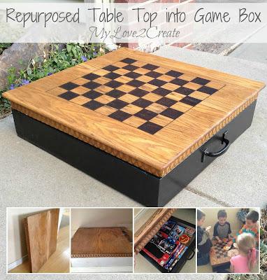 MyLove2Create, Repurposed Table Top into Game Box