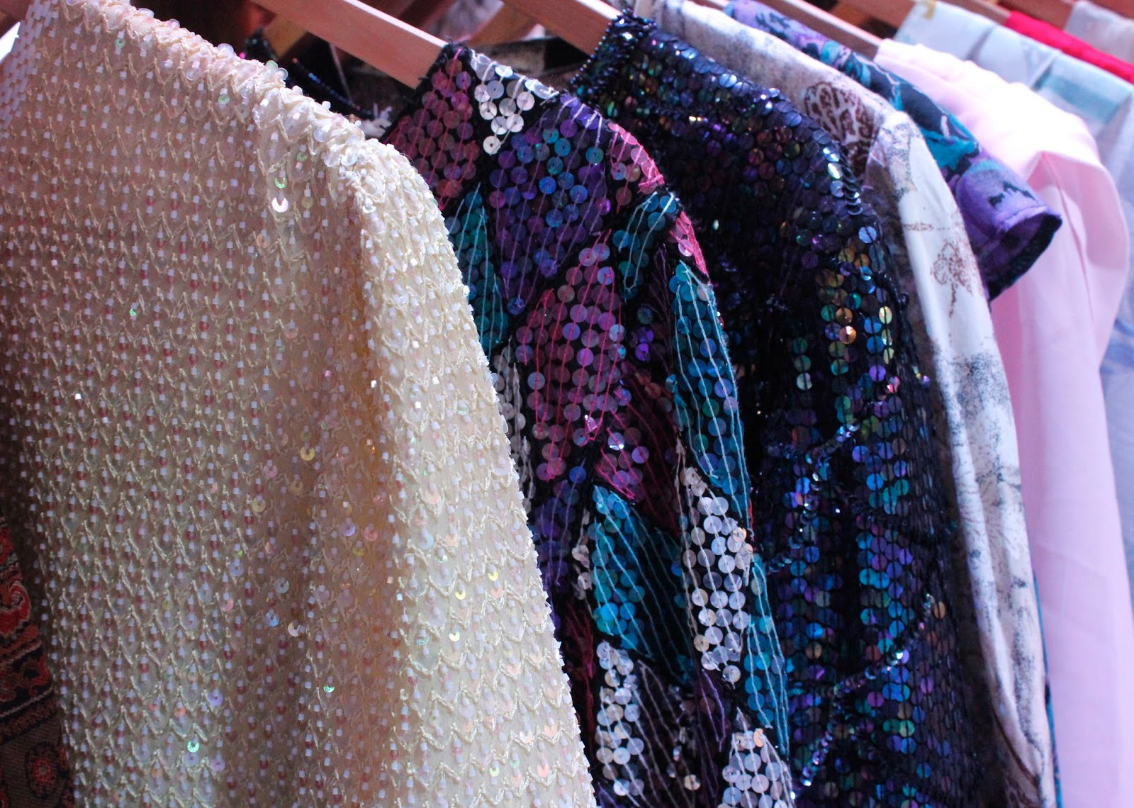 Sequin Vintage Tops