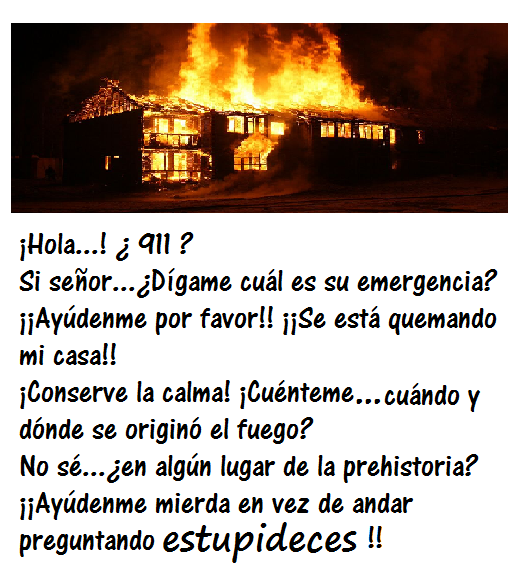 ¡Socorro...me quemo!