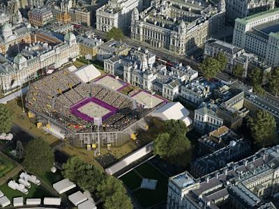 Horse Guards Parade voleibol playa beach volleyball Londres London 2012 Olimpiadas Olympic