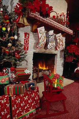 foto chimenea navideña