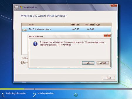 Cara Instal Windows 7 - Partisi Hardisk 4