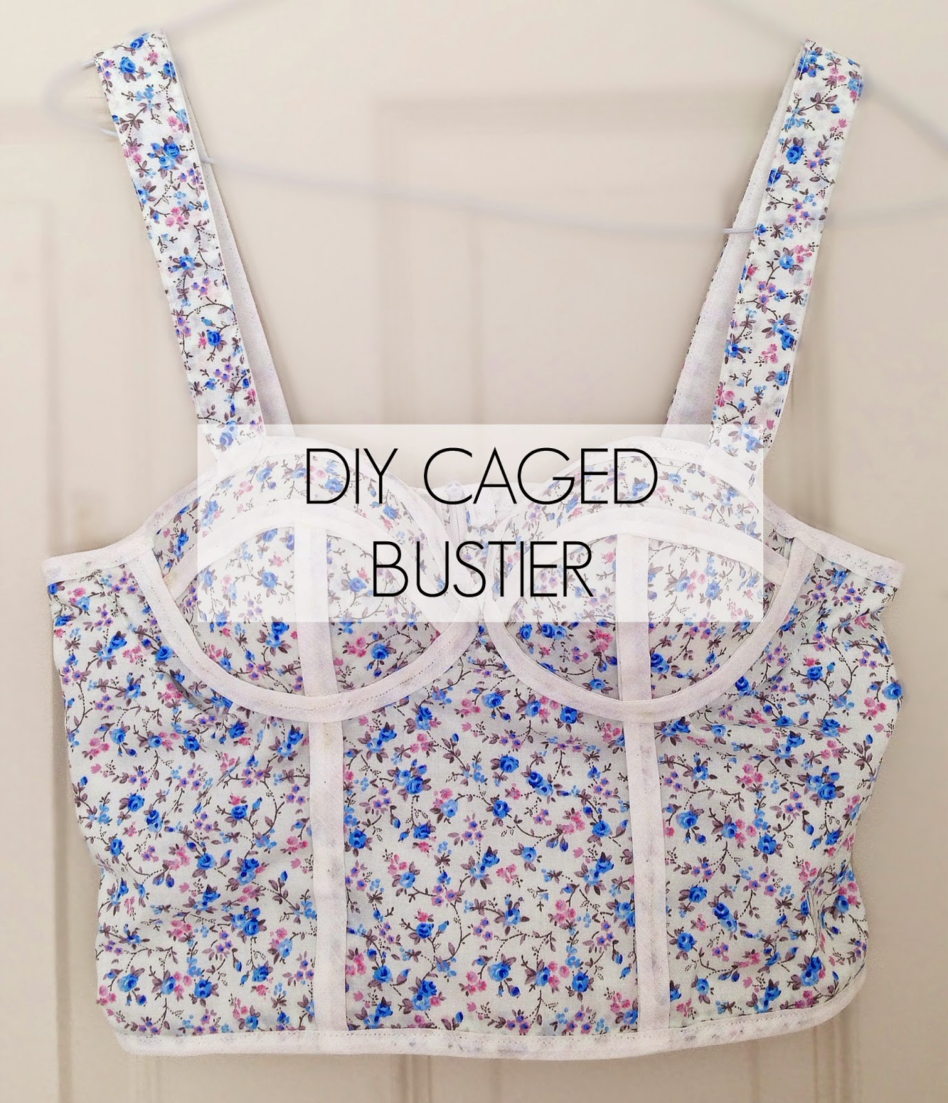 diy caged bustier