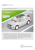 2011 Mercedes-Benz M-Class W 166 PRE-SAFE reduces forces on occupants during accidents