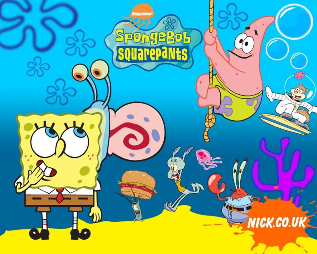 spongebob adalah salah satu kartun dari banyak kartun yang paling