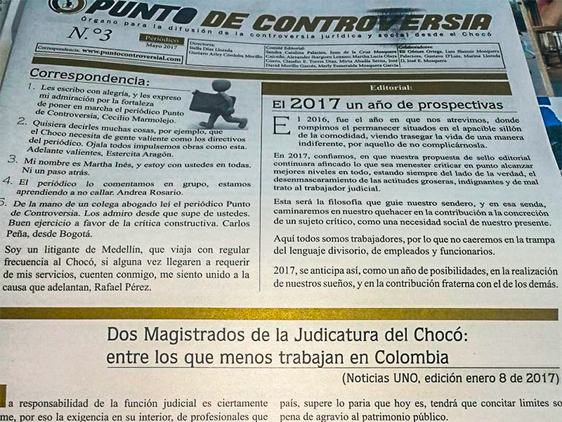 Punto de Controversia, el espacio de comunicación de Asonal Judicial SI en Chocó