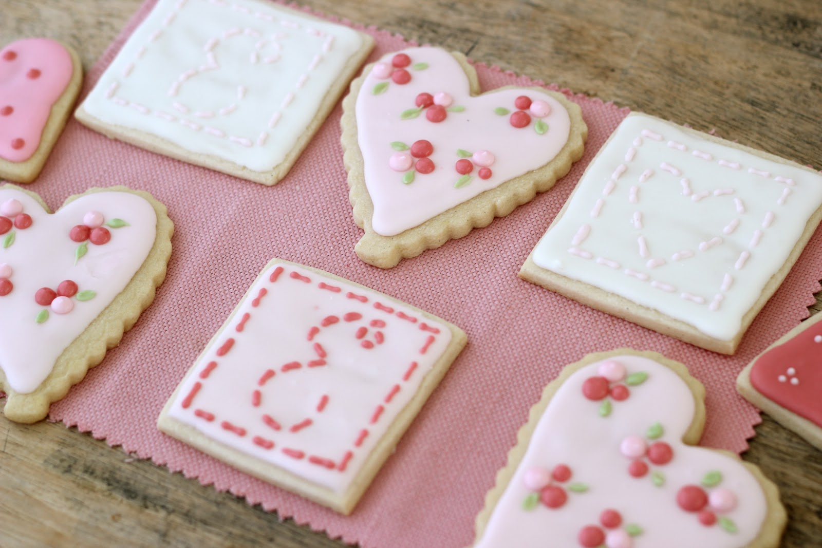 ... link to my Sugar Cookie (and more Valentine's Day Cookies...) recipe