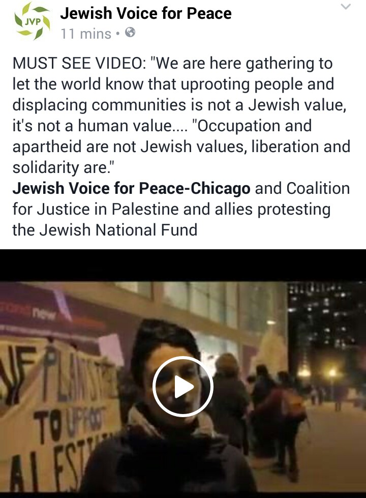 click for video. Occupation and oppression are not Jewish values.