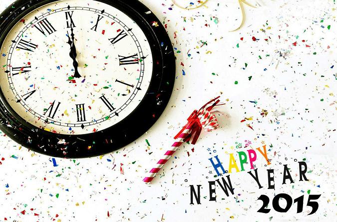 Happy New Year 2015 Clock Wallpaper
