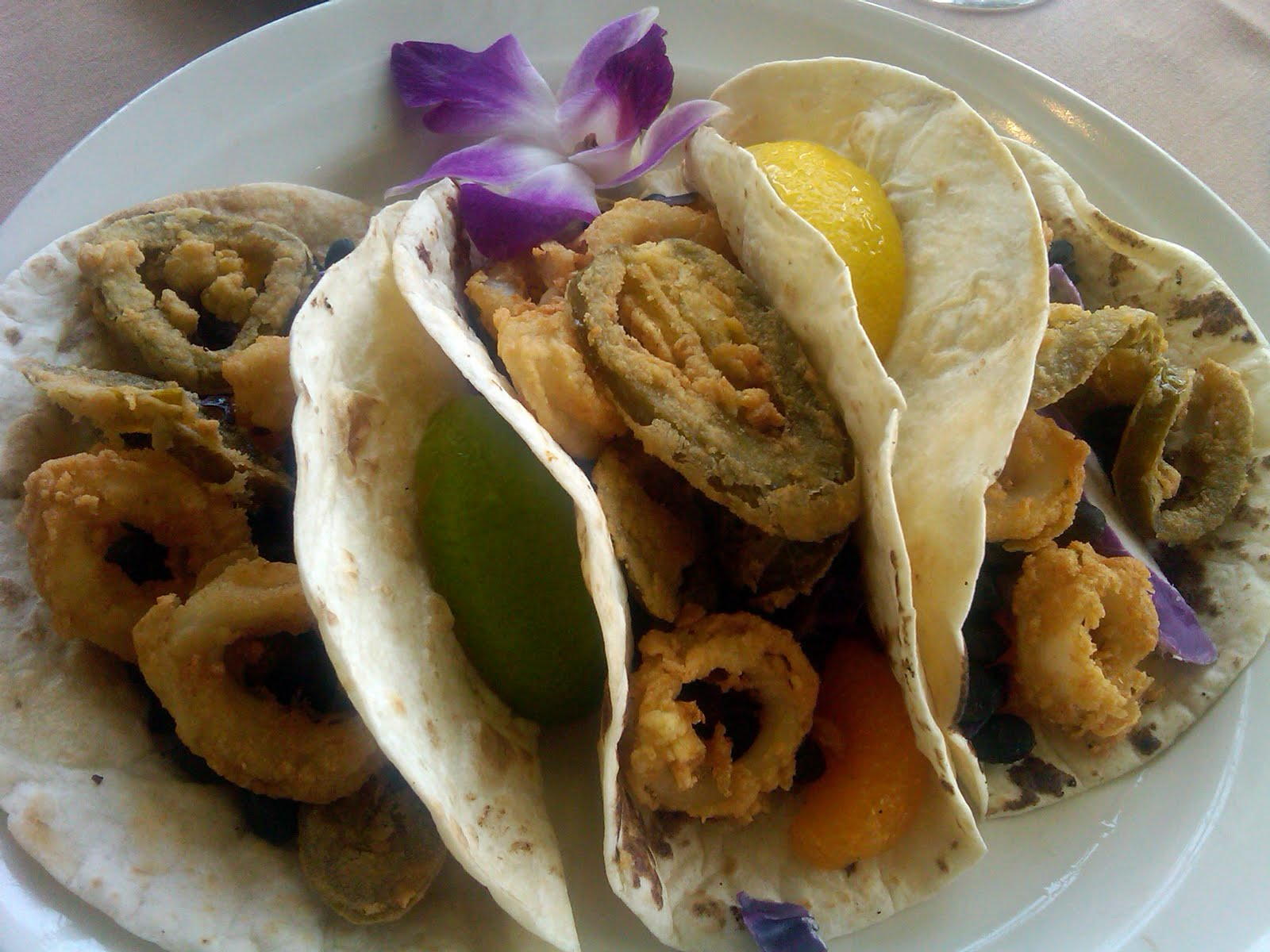 Calamari Tacos With Salsa Naranja Recipes — Dishmaps