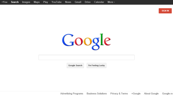 Google's Red Sign In Button