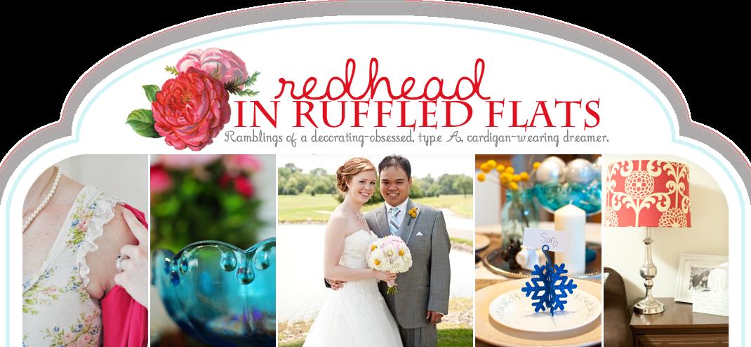 Redhead in Ruffled Flats