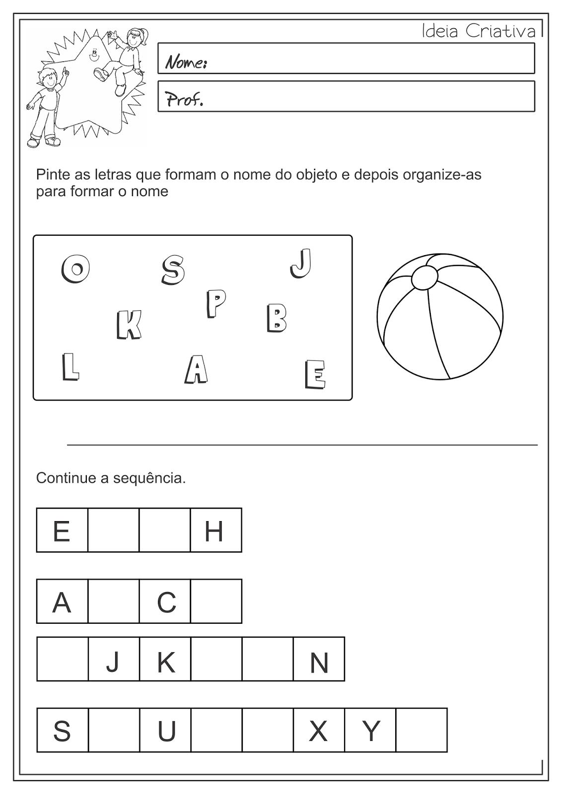 Atividade Educativa Ordem Alfabética Língua Portuguesa 3° ano Fundamental