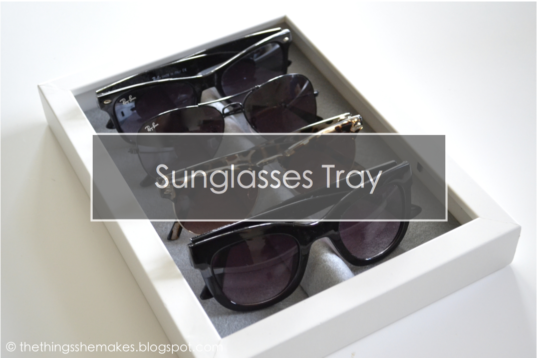 Eyeglass Frame Storage Trays : How To Make a Sunglasses Storage Tray The Things She Makes