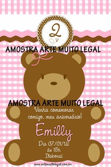 Convites infantis e lembrancinhas ARTE MUITO LEGAL
