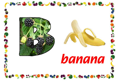 free printable ABC flashcard, letter B