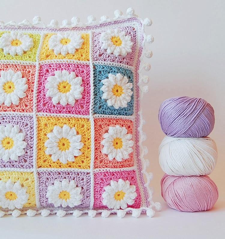 Daisy Granny Square Blanket Pattern Daisy Granny Square Pillow
