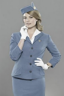 Margot Robbie fills out her Pan Am uniform nicely
