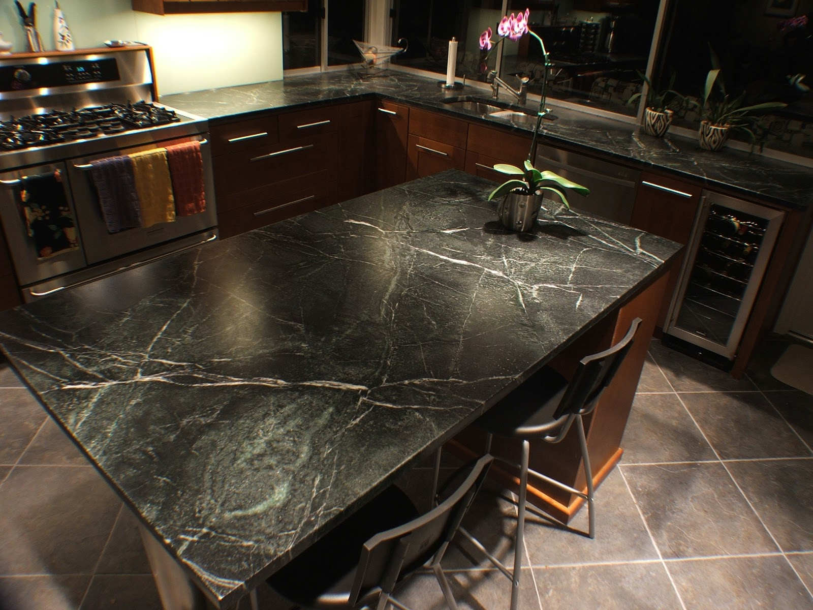 Soapstone Maintenance Is Fast Easy Granite Vs Soapstone For A Kitchen Or Bathroom Countertop