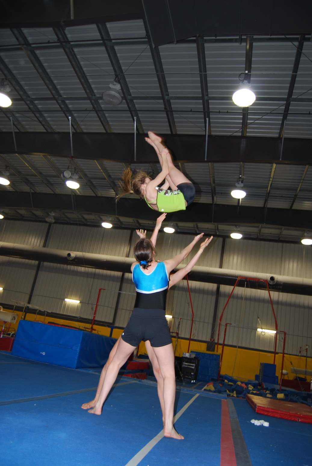 Rhythmic gymnastics practice