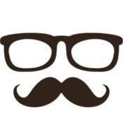 Gambar Kumis Kacamata Kartun Lucu Vektor Grafis