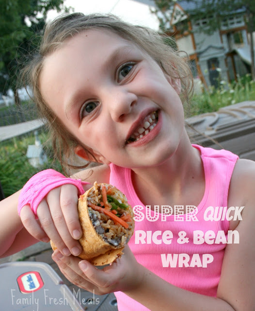 Quick and Easy Bean & Rice Wrap