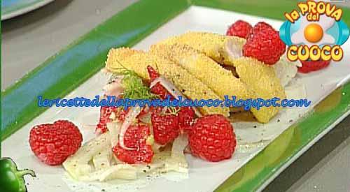 Persico in crosta di polenta con insalatina di finocchi e lamponi ricetta Prova del Cuoco