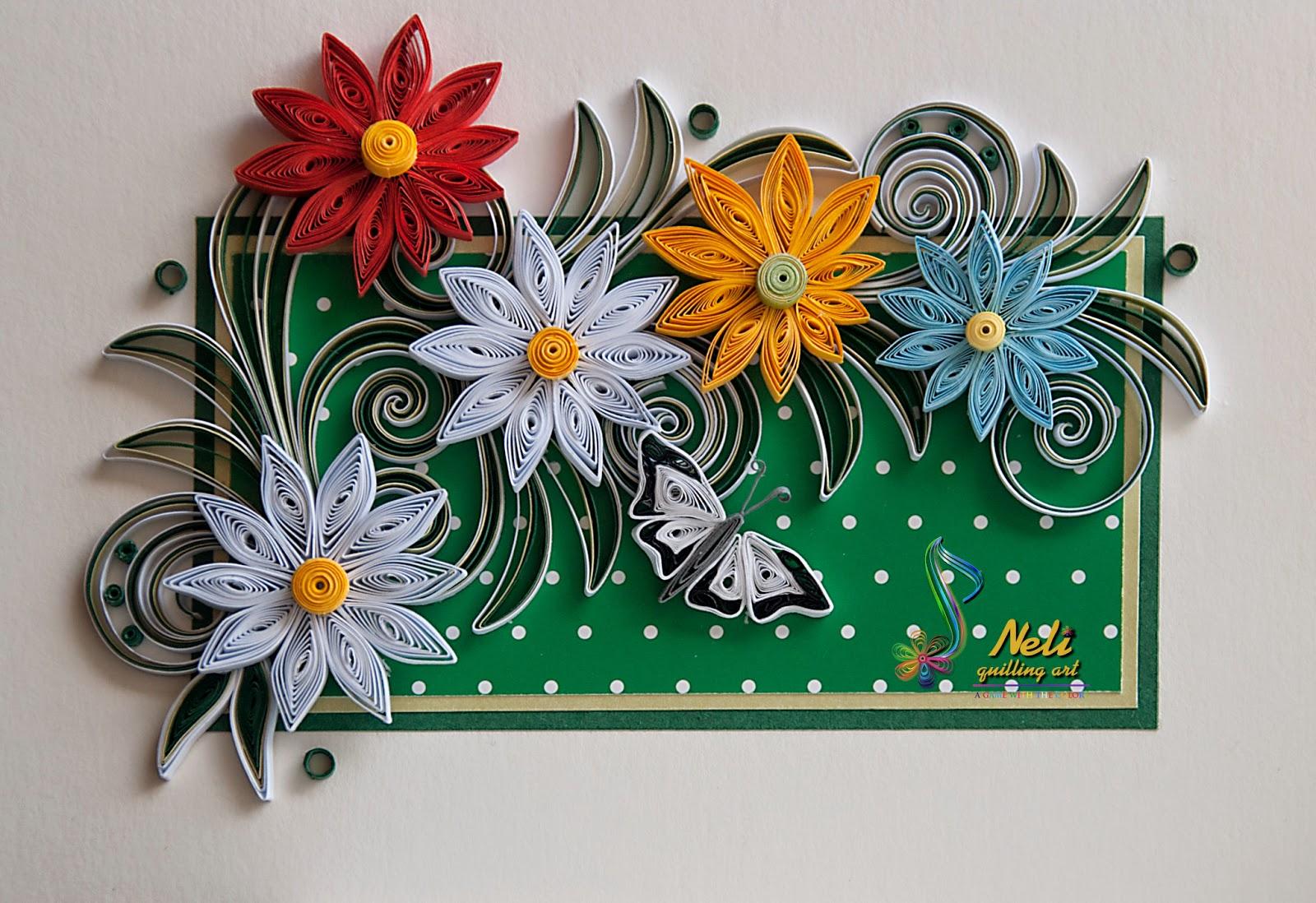 Квиллинг красивых цветов