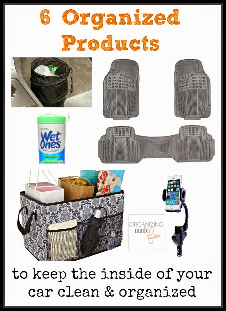 6  Organized Products to keep the inside of your car clean and organized :: OrganizingMadeFun.com