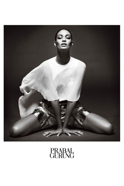 Joan Smalls by Daniel Jackson for Prabal Gurung's Spring 2013