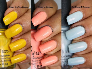China Glaze Road Trip Swatches