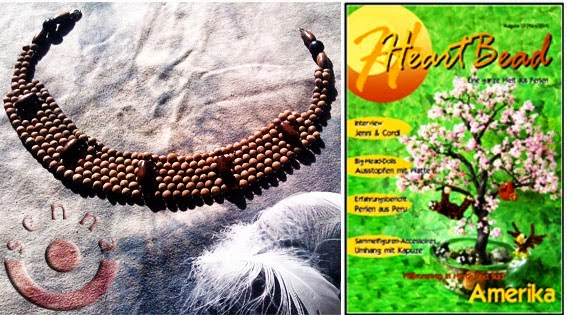 "meine Anleitung: Indianisches Tonperlenhalsband in dem online Magazin ""Heartbead"" S. 52-54"