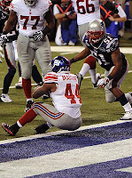 Despite himself, Ahmad Bradshaw scores the game-winning TD in Super Bowl XLVI