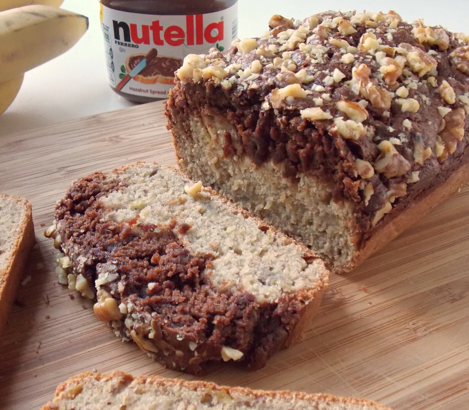 Mystery Lovers' Kitchen: How to Make Nutella Banana Split Bread by ...