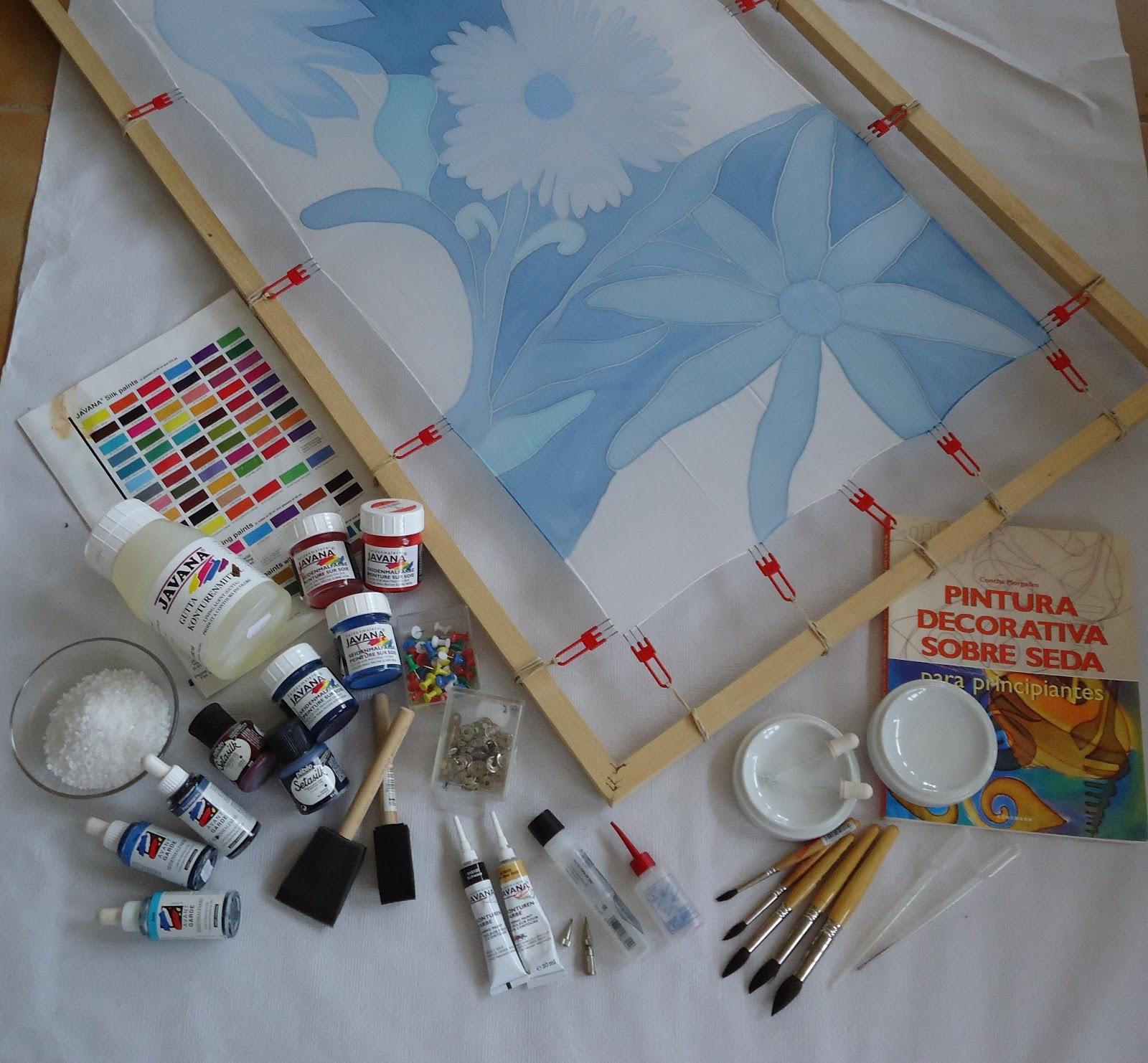 Sobre seda y algod n materiales para pintar seda - Materiales para pintar ...
