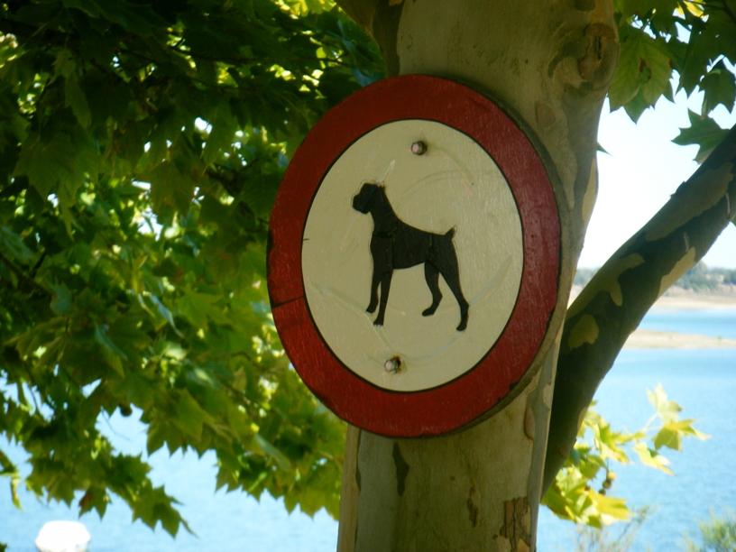 Sinal Proibição de animais