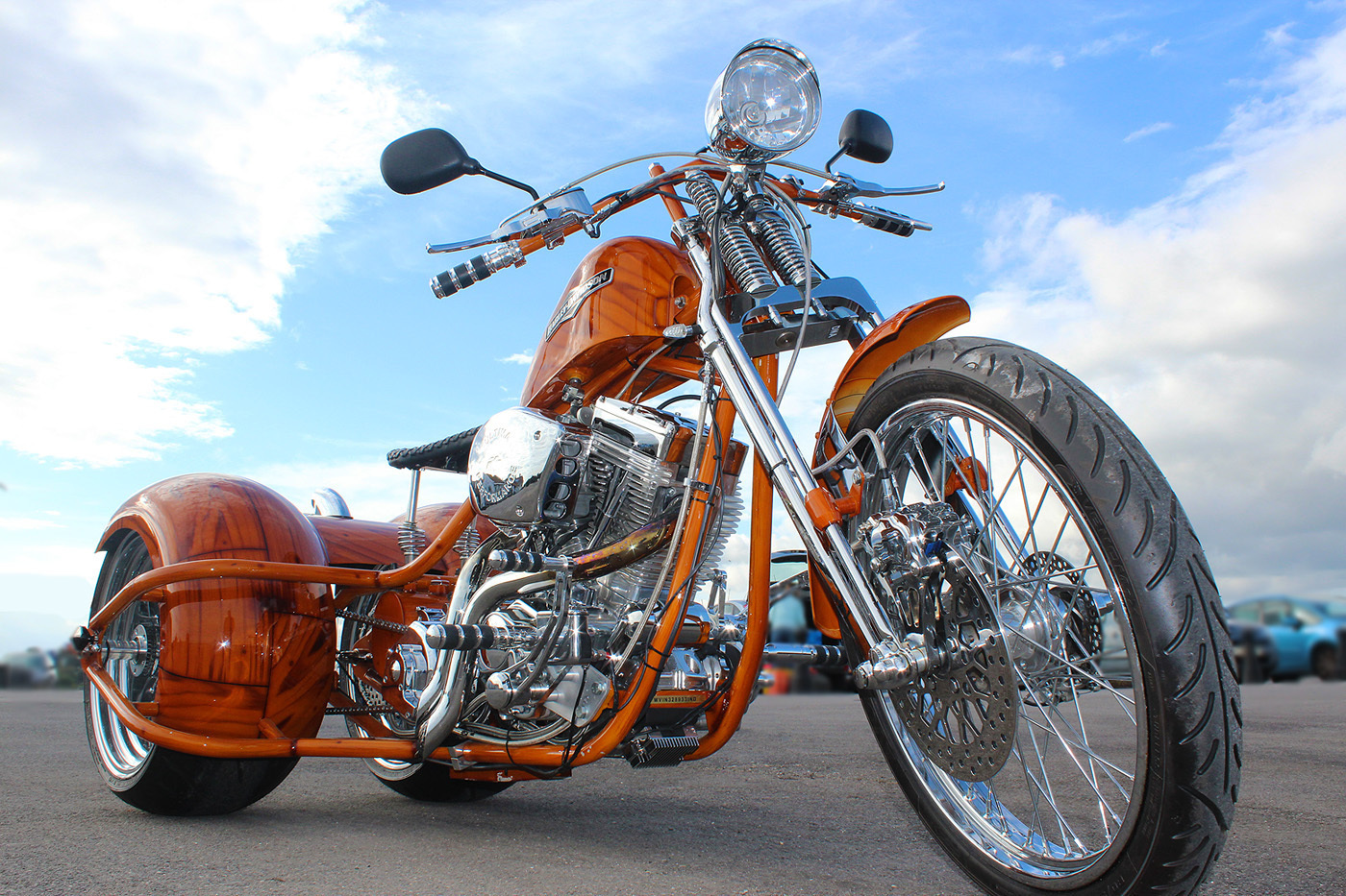 ebay scam hunter harley davidson road legal chopper custom built trike. Black Bedroom Furniture Sets. Home Design Ideas