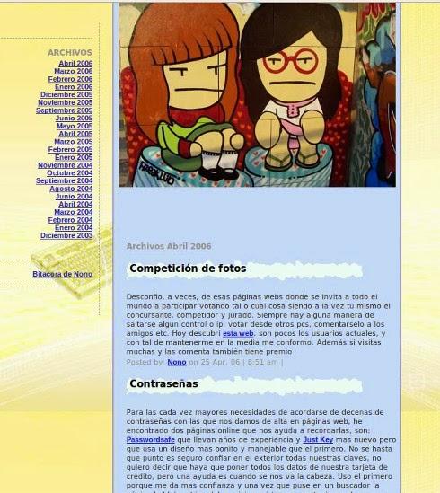 Blog de Nono 2003 - 2006