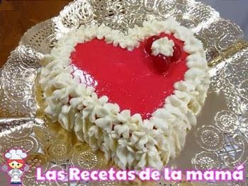 Tarta de chocolate blanco para San Valentín