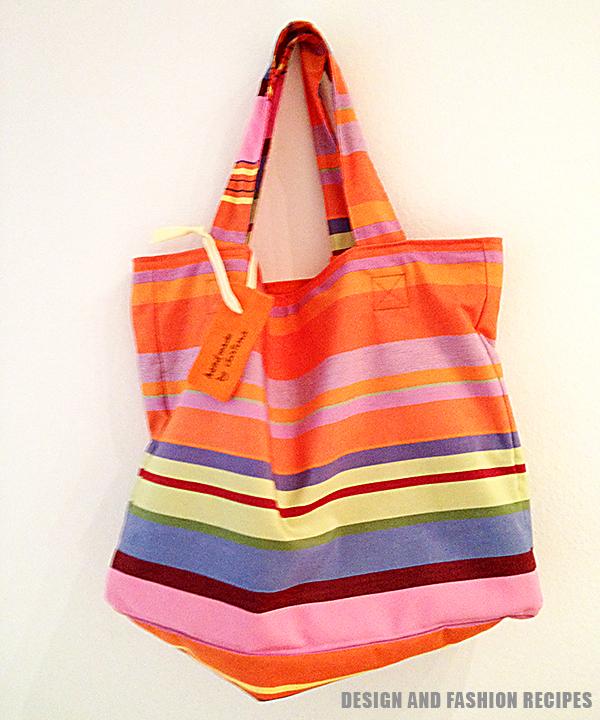 DIY: handbag for the beach on Design and fashion recipes
