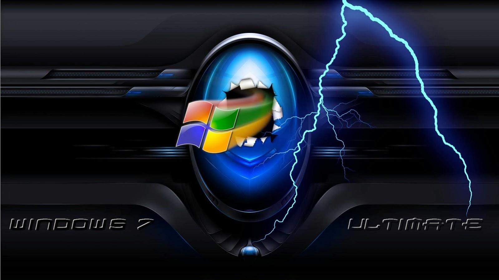 Fondo de pantalla windows 7 ultimate rayo azul - Fondos de escritorio para windows 7 gratis ...